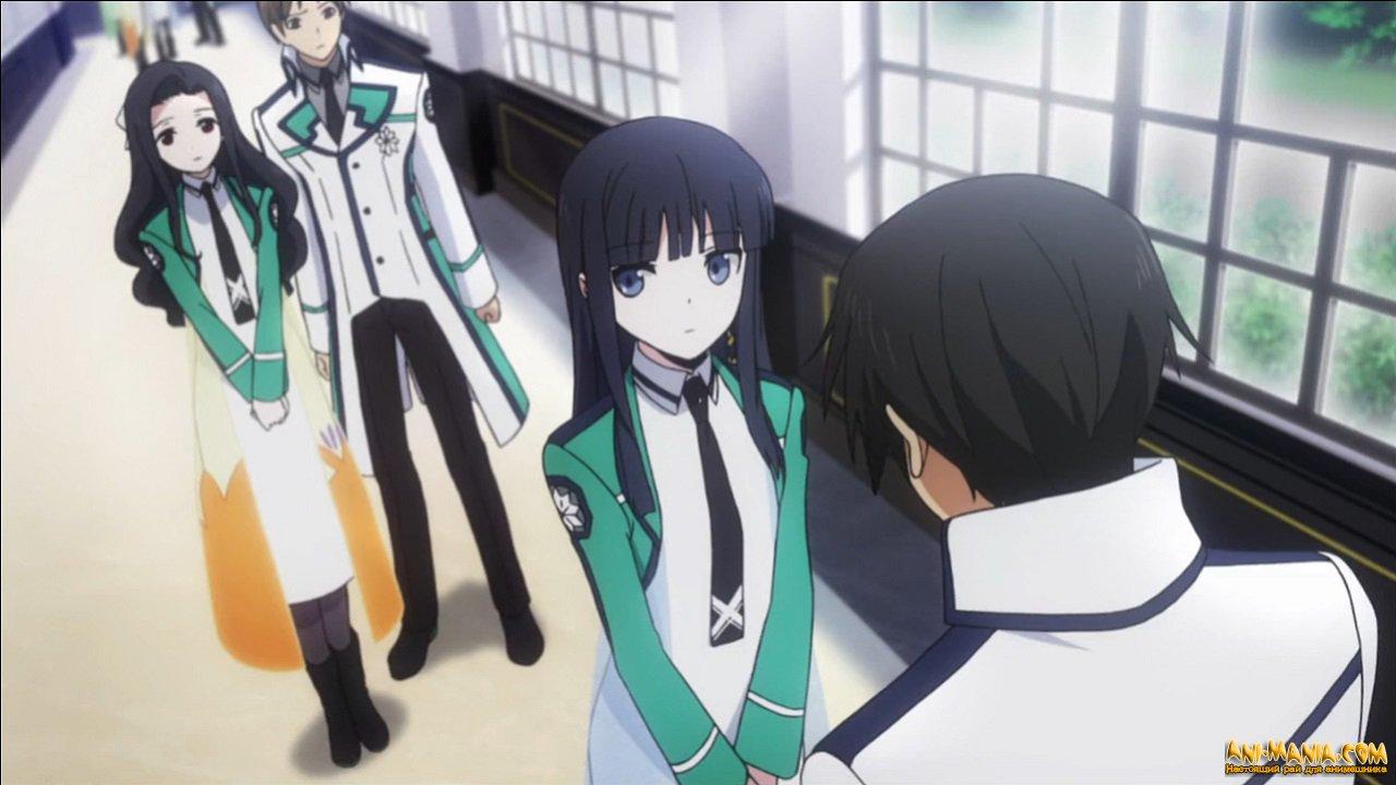 Аниме непутёвый ученик в школе магии (mahouka koukou no.