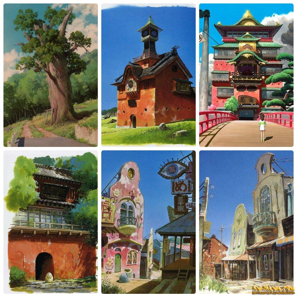 Диорама студии Ghibli в префектуре Аити
